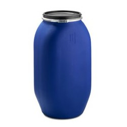 """Fût plastique ouverture totale 130 litres carré \""""UN\"""""""