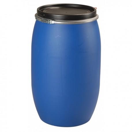 """Fût plastique ouverture totale 120 litres \""""UN\"""""""