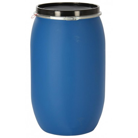 """Fût plastique ouverture totale 220 litres \""""UN\"""""""